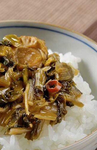 帆立入り 野沢菜の油炒め